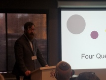 Dr. Ezra Donner delivering his session on Jewish Composers