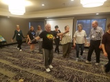 As a last minute replacement (because one of our presenters had bronchitis and couldn't attend), Lee Jacobi led an impromptu session on jewish folk dancing. Click this link to see some video from this session: https://drive.google.com/file/d/1fYo6PKu7FVdt5POvLc1RWXozceeCWOC5/view?usp=sharing